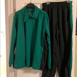 Nike Dri-Fit warm up jacket and pants XL
